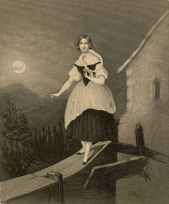 The Sopranos Drawing - Jenny Lind  Soprano Singer, Seen Here by Mary Evans Picture Library