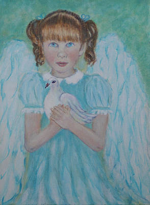Painting - Jenny Little Angel Of Peace And Joy by The Art With A Heart By Charlotte Phillips