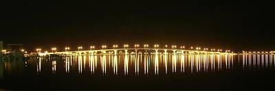 Photograph - Jensen Causeway At Night by Lynda Dawson-Youngclaus