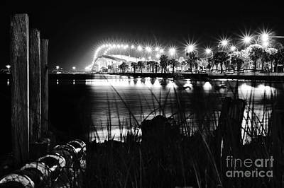 Photograph - Jensen Causeway From N W Side B W by Lynda Dawson-Youngclaus