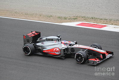 Photograph - Jenson Button In His Mclaren by David Grant