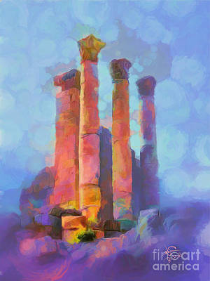 Jordan Painting - Jerash by Imad Abu shtayyah
