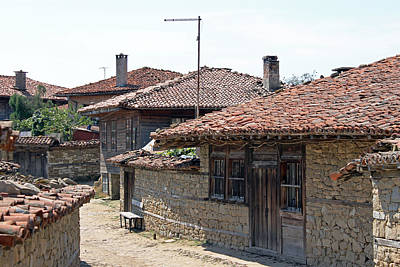 Photograph - Jeravna Village Houses by Tony Murtagh