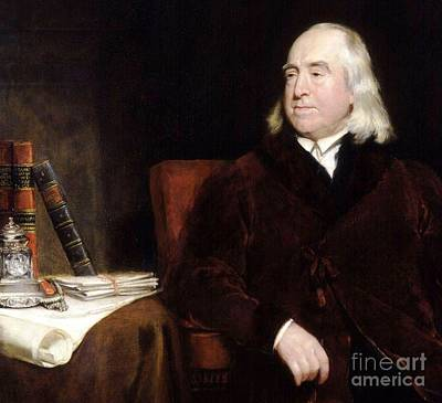 Jeremy Bentham Art Print by Pg Reproductions