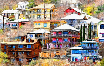 Jerome Arizona Hillside Houses Art Print