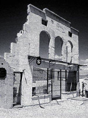 Jerome Arizona - Jailhouse Ruins Art Print by Gregory Dyer