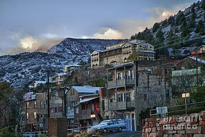 Photograph - Jerome Arizona Sunrise Hdr by Ron Chilston