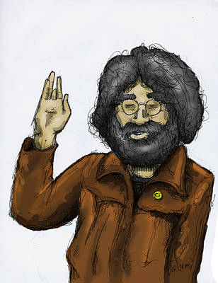 Jerry Garcia Drawing - Jerome G by Jon Griffin