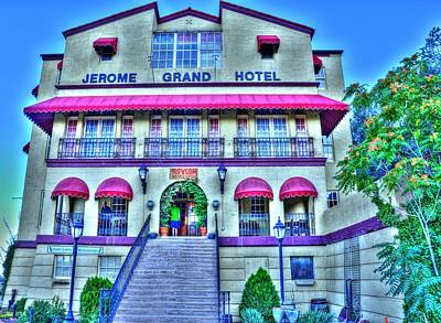 Photograph - Jerome Grand Hotel by Mark Bowmer