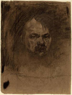 Self-portrait Drawing - Jerome Myers, Self-portrait, American, 1867 - 1940 by Quint Lox