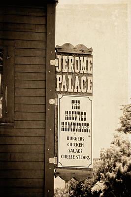 Jerome Arizona Photograph - Jerome Palace - The Haunted Hamburger by Saija  Lehtonen