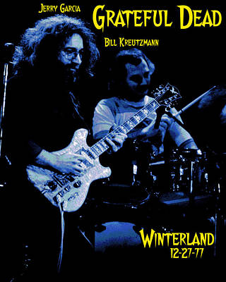 Jerry Garcia Photograph - Jerry And Billy At Winterland by Ben Upham