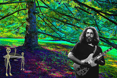 Photograph - Jerry And His Friends From Space On A Groovy Day In The Woods By A Tree by Ben Upham III