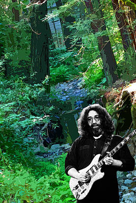 Jerry Garcia Photograph - Jerry At Creek by Ben Upham