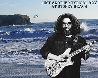 Ufo Photograph - Jerry At Stoney Beach by Ben Upham