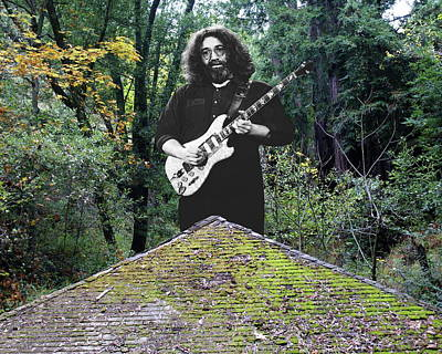 Jerry Garcia Photograph - Jerry At The Pyramid In The Woods by Ben Upham