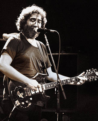 Rock Star Art Photograph - Jerry Garcia 1981 by Chuck Spang