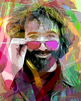 Portraits Royalty-Free and Rights-Managed Images - Jerry Garcia Art by David Lloyd Glover