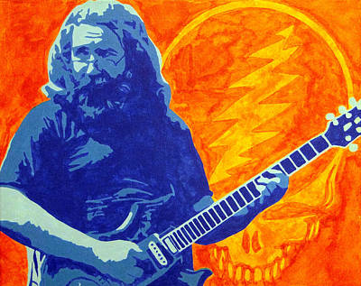 Jerry Garcia Art Print by Doran Connell