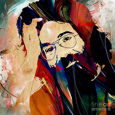 Music Mixed Media - Jerry Garcia Grateful Dead by Marvin Blaine
