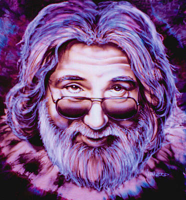 Jerry Garcia Art Print by Mike Underwood