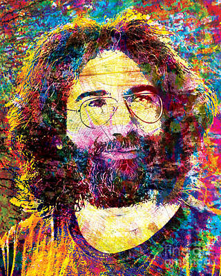 The Grateful Dead Mixed Media - Jerry Garcia The Grateful Dead by Ryan Rock Artist