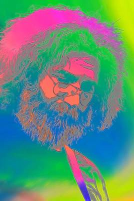Counterculture Digital Art - Jerry Garcia Tie Dye by Dan Sproul