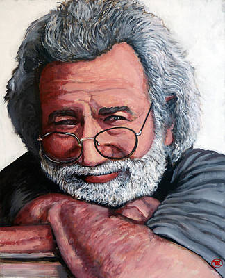 Tr Painting - Jerry Garcia by Tom Roderick