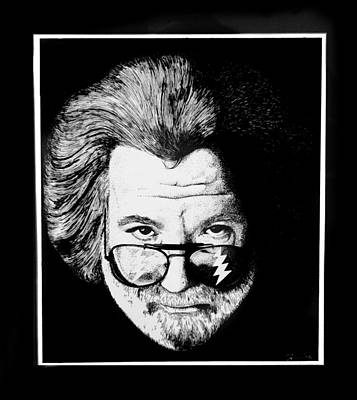 Jerry Garcia Drawing - Jerry Garcia by William Gambill