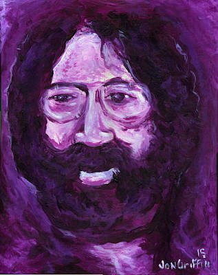 Jerry Garcia Drawing - Jerry In Mauve by Jon Griffin