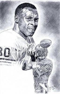 Jerry Rice Art Print by Jonathan Tooley