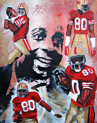 Painting - Jerry Rice by Ottoniel Lima