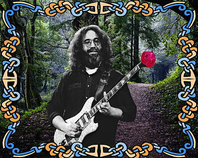 Jerry Road Rose 1 Print by Ben Upham
