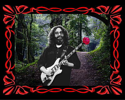 Art Print featuring the photograph Jerry Road Rose 2 by Ben Upham