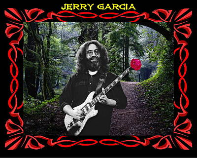 Art Print featuring the photograph Jerry Road Rose 3 by Ben Upham