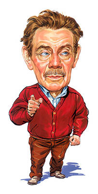 Comics Royalty Free Images - Jerry Stiller as Frank Costanza Royalty-Free Image by Art