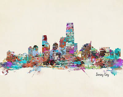 Colorfull Painting - Jersey City New Jersey by Bri B