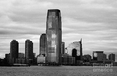 Jersey City New Jersey Waterfront And 10 Exchange Place New York City Art Print by Joe Fox