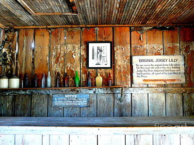 Judge Roy Bean Photograph - Jersey Lilly Saloon by Avis  Noelle