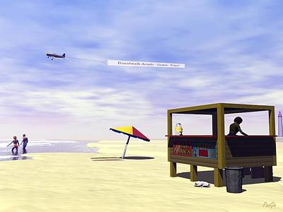 Digital Art - Jersey Shore by John Pangia
