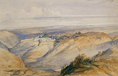 Synagogue Drawing - Jerusalem, 1845 by David Roberts