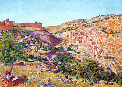 Photograph - Jerusalem And The Valley Of Jehoshaphat by Munir Alawi