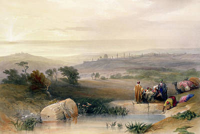 Hills Drawing - Jerusalem, April 1839 by David Roberts