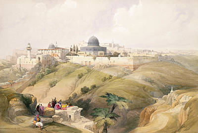 Jerusalem Drawing - Jerusalem, April 9th 1839, Plate 16 by David Roberts