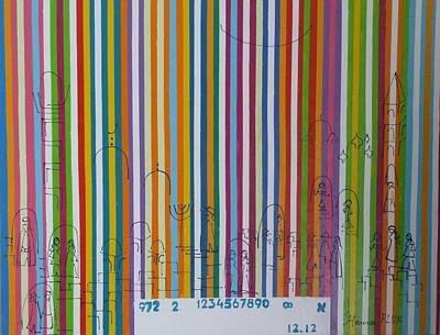 Jerusalem Barcode Art Print by Hanna Fluk