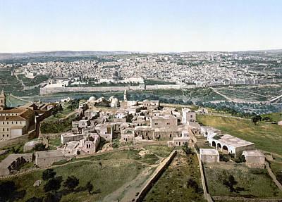 Jerusalem Painting - Jerusalem Cityscape, C1895 by Granger