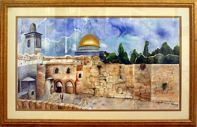 Sepulcher Painting - Jerusalem Cradle Of Civilization by Rachel Alhadeff