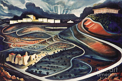 Painting - Jerusalem Diamonds by Yael Avi-Yonah