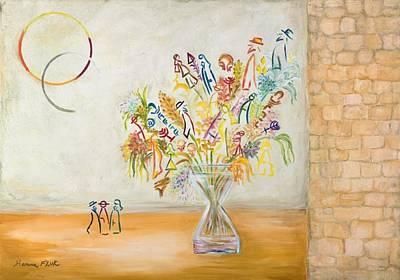 Jerusalem Flowers Art Print by Hanna Fluk