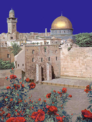 Temple Painting - Jerusalem by Guido Borelli
